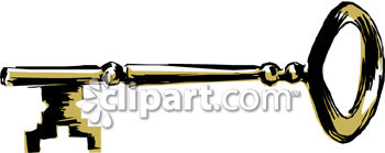 Old Fashioned Skeleton Key Clip Art Royalty Free Clipart Image
