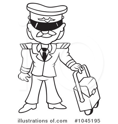 Pilot Clipart Black And White Royalty Free  Rf  Pilot