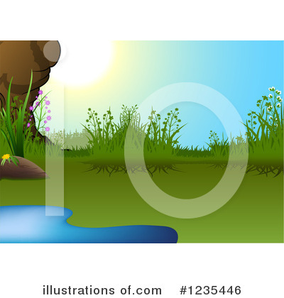 Pond Clipart  1235446 By Dero   Royalty Free  Rf  Stock Illustrations
