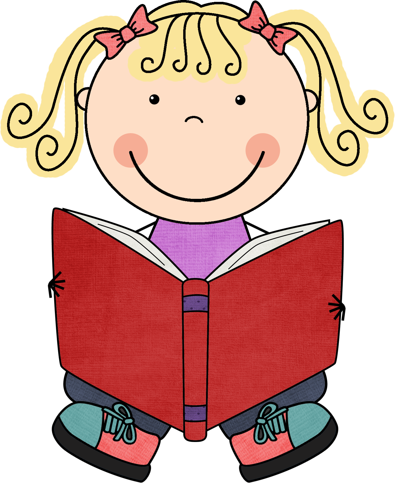 Reading Books Clip Art