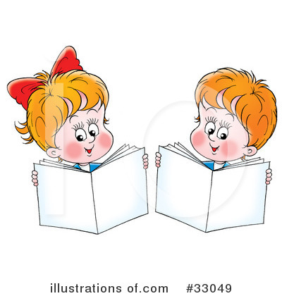 Reading Clipart  33049 By Alex Bannykh   Royalty Free  Rf  Stock
