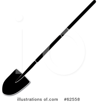 Royalty Free  Rf  Shovel Clipart Illustration By Pams Clipart   Stock