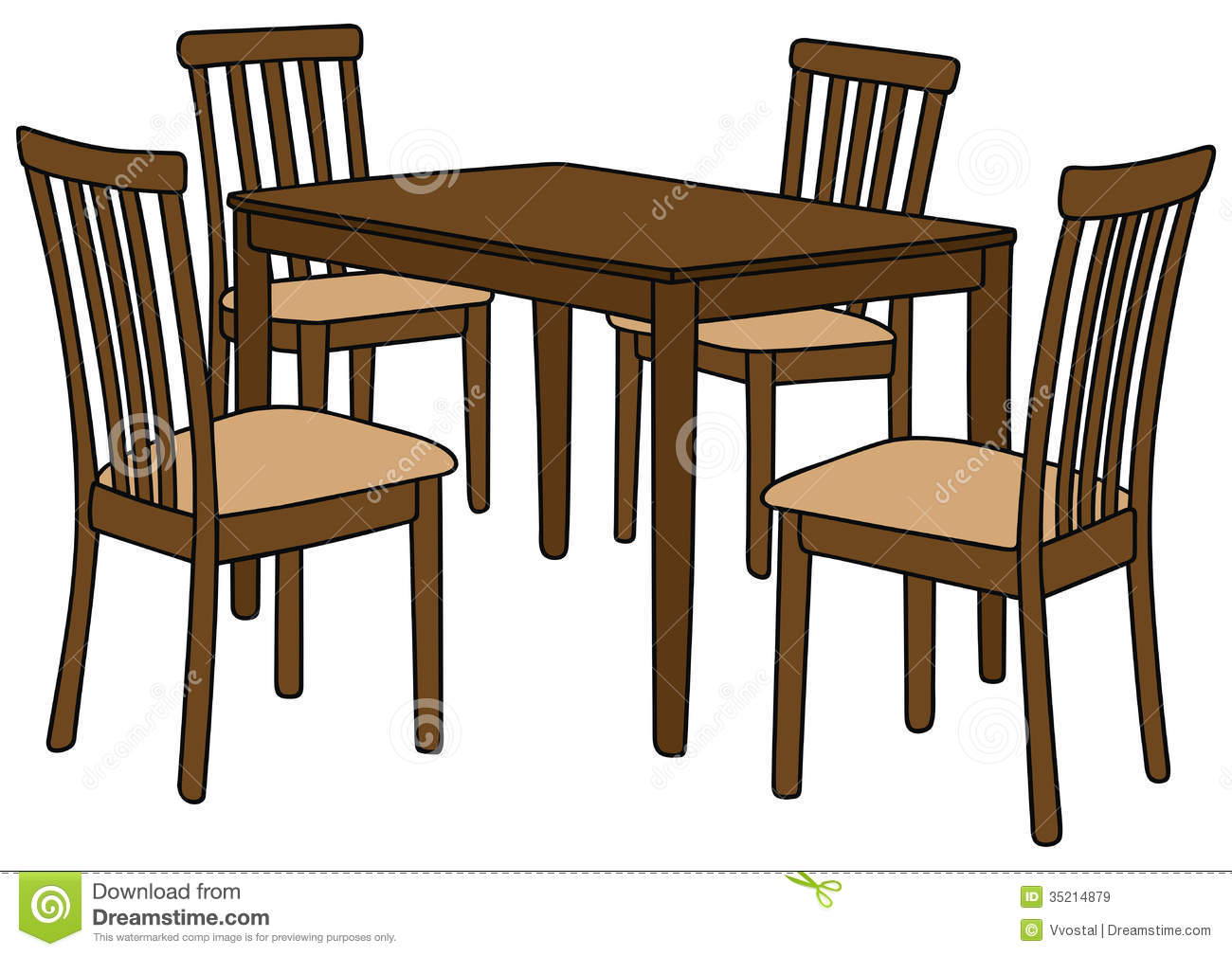 Table Clipart Kitchen Table And Chairs Clipart Hd Table And Chairs