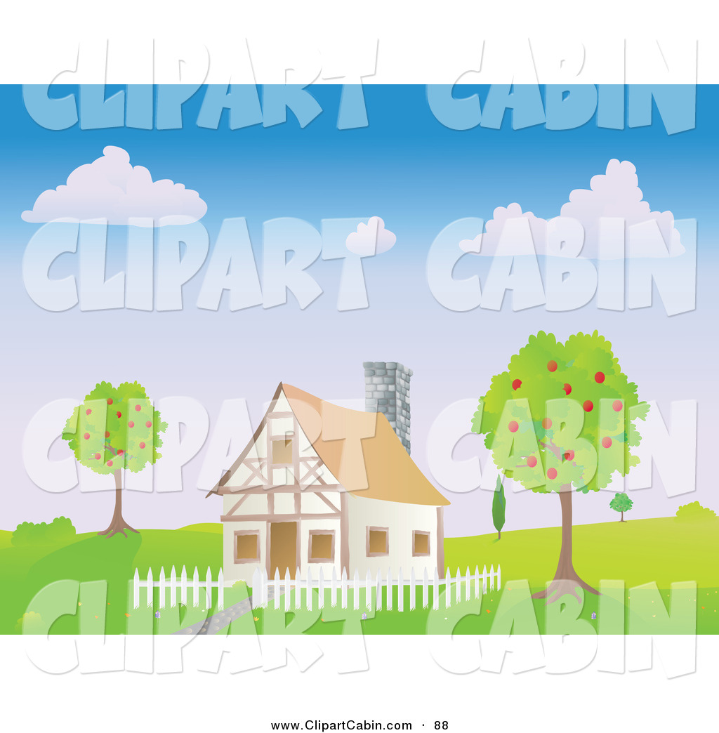 house with fence clip art - photo #45