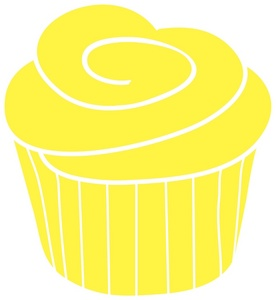 Yellow Cupcake Clipart Cupcake Clipart Image A