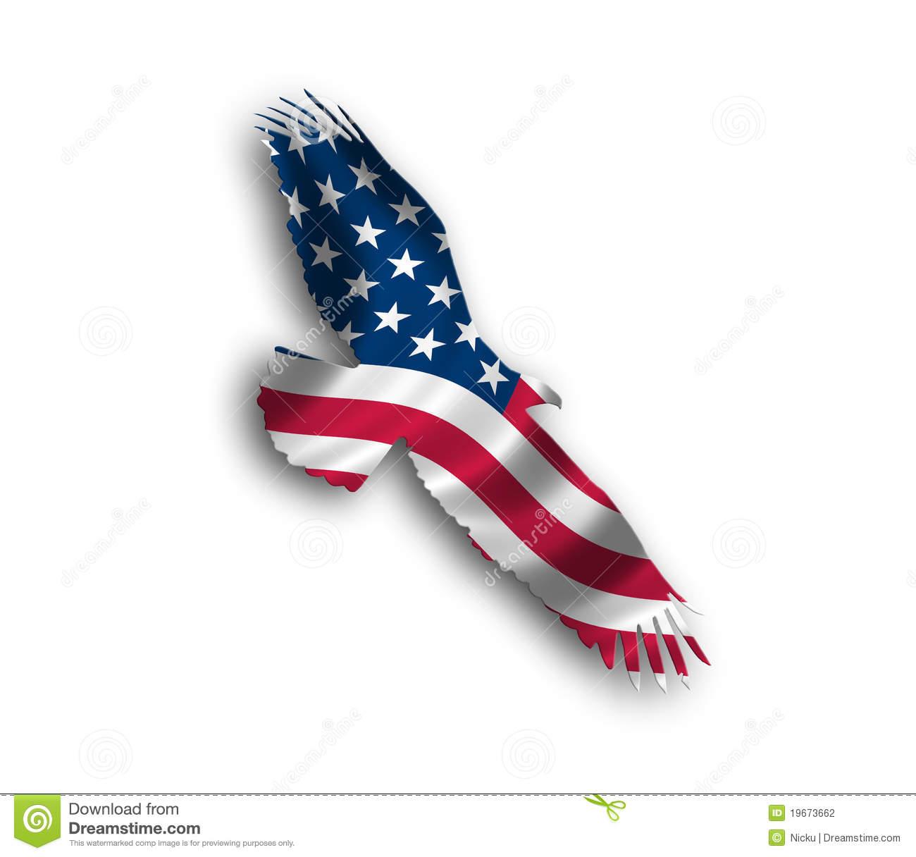 American Eagle Flag Stock Photography Image 19673662