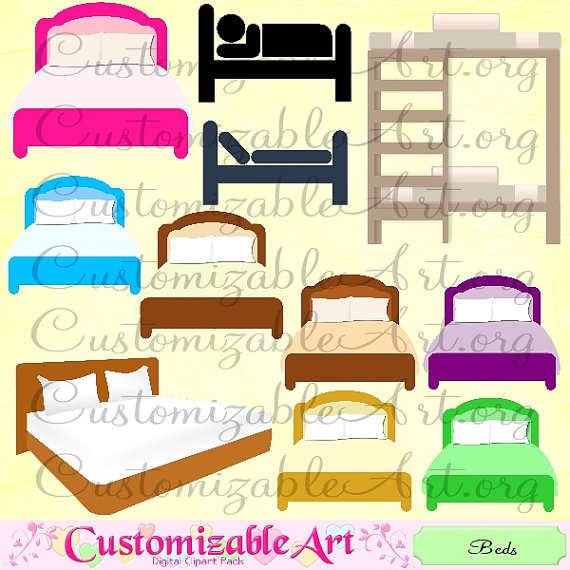 Bed Icon Bunk Bed Clipart Hotel Dorm Bed Cute Bedroom Images Graphics
