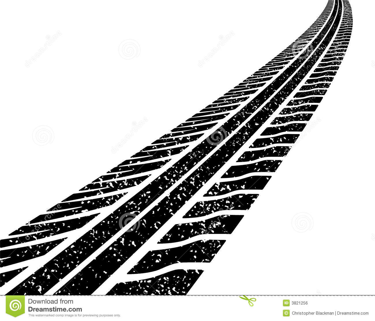 Burnout Tire Tracks Clipart