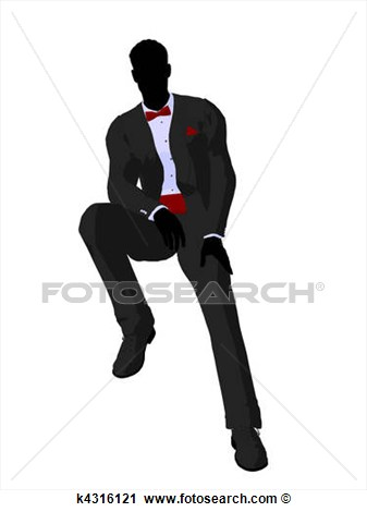 Clipart   Wedding Groom In A Tuxedo Silhouette  Fotosearch   Search
