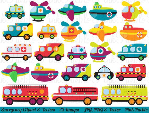 Transportation Vehicles Clipart