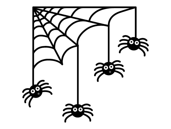 Creepy Spiders Webs Clipart - Clipart Suggest