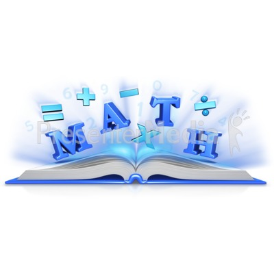 Math Text Symbols In Book   Education And School   Great Clipart For