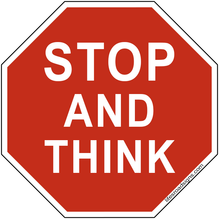 Stop And Think Clipart - Clipart Kid