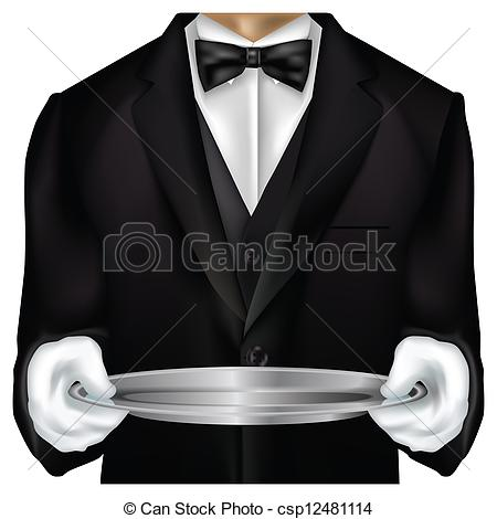 Torso Dressed In Tux Isolated On White Csp12481114   Search Clipart