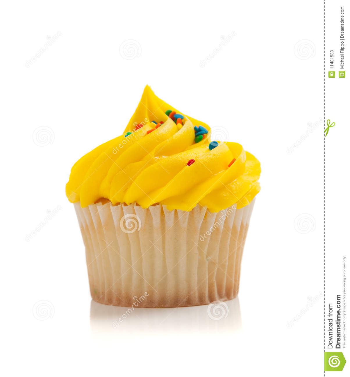 Yellow Cupcake Clipart Yellow Cupcake With Sprinkles
