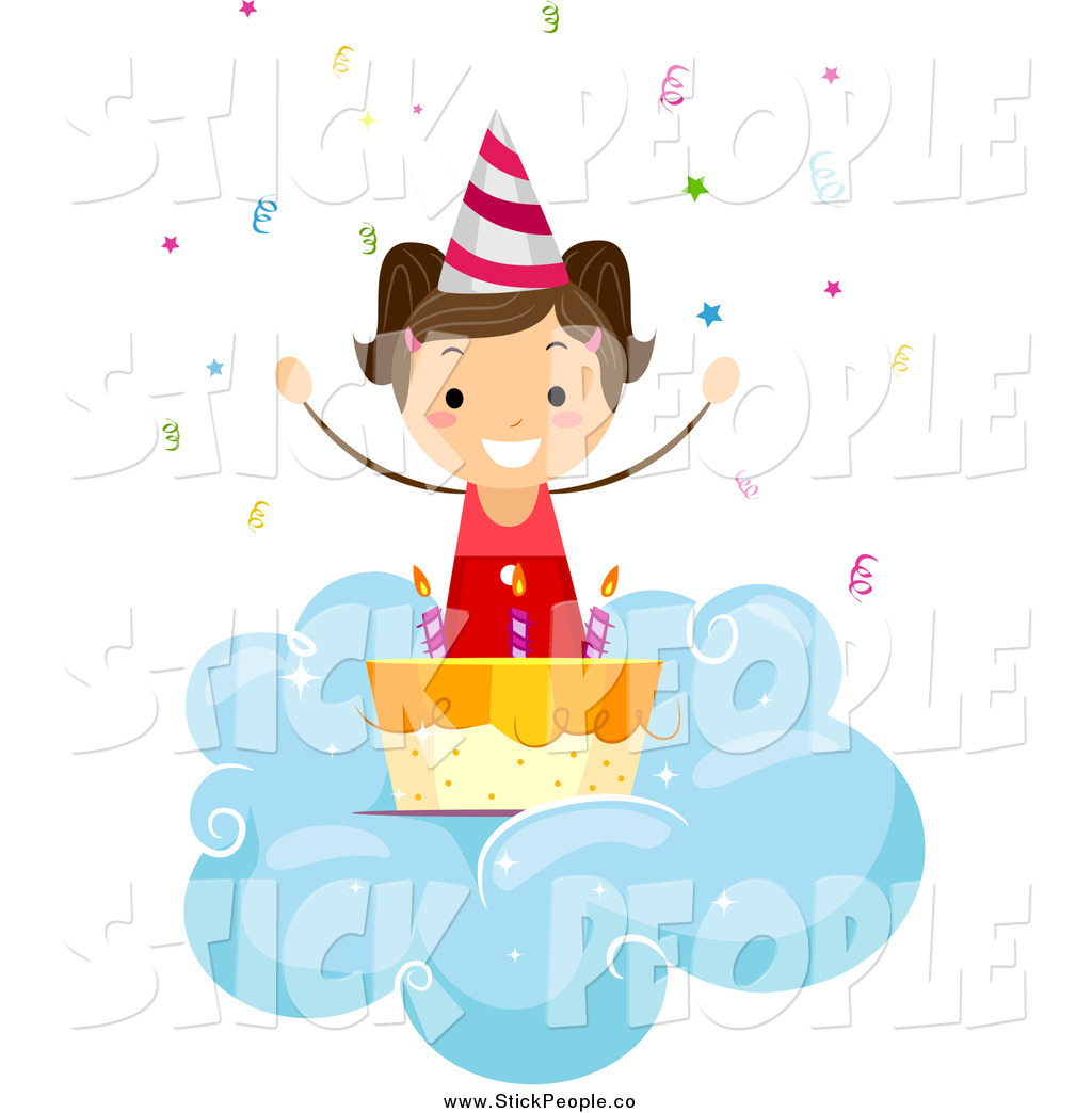 13th Birthday Cake Clip Art Stick People Clipart   New
