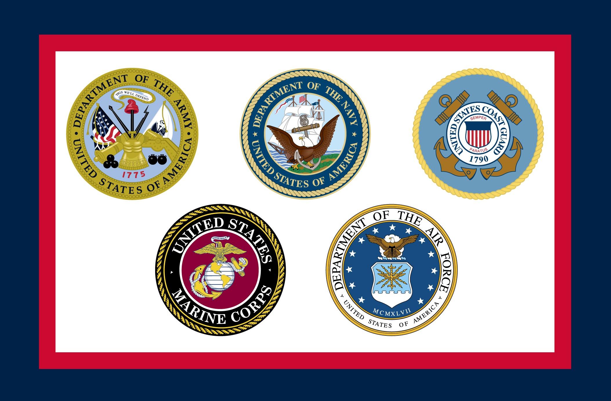 3x5 Us Armed Forces Flag Nylon H G Flag