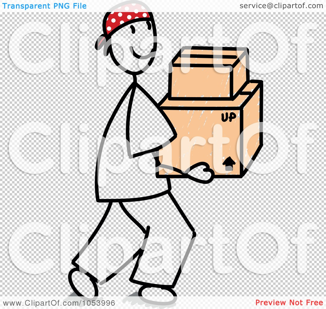 Art Illustration Of A Stick Man Carrying Boxes By Frog974  1053996
