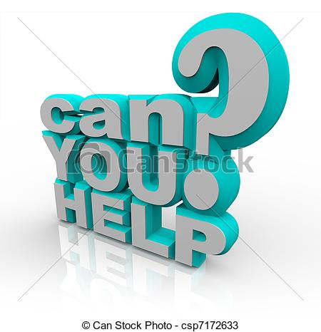 Can You Help 3d Illustrated Words Are A Plea For Help In A Financial