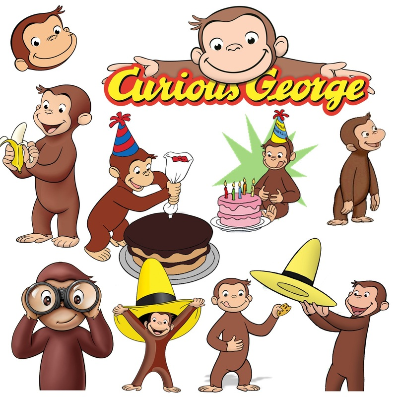 Curious George Png Clip Art Digital Scrapbook   Www Myfuninvite Com