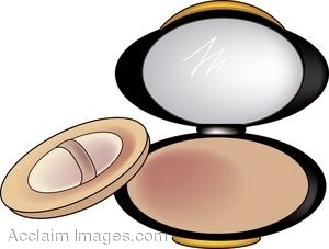 Description  Clip Art Of A Compact Of Pressed Face Powder  Clip Art