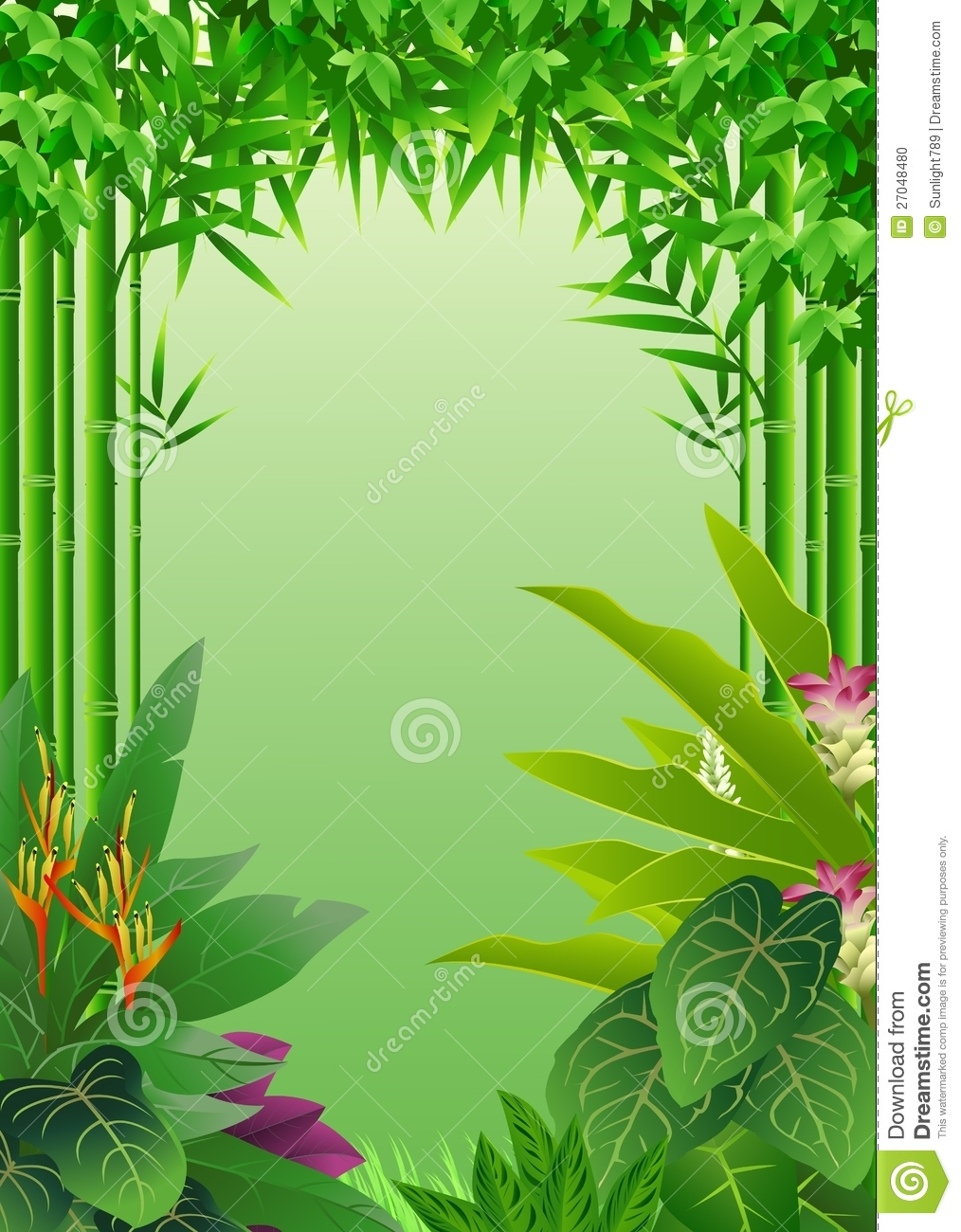 Animated jungle background vector
