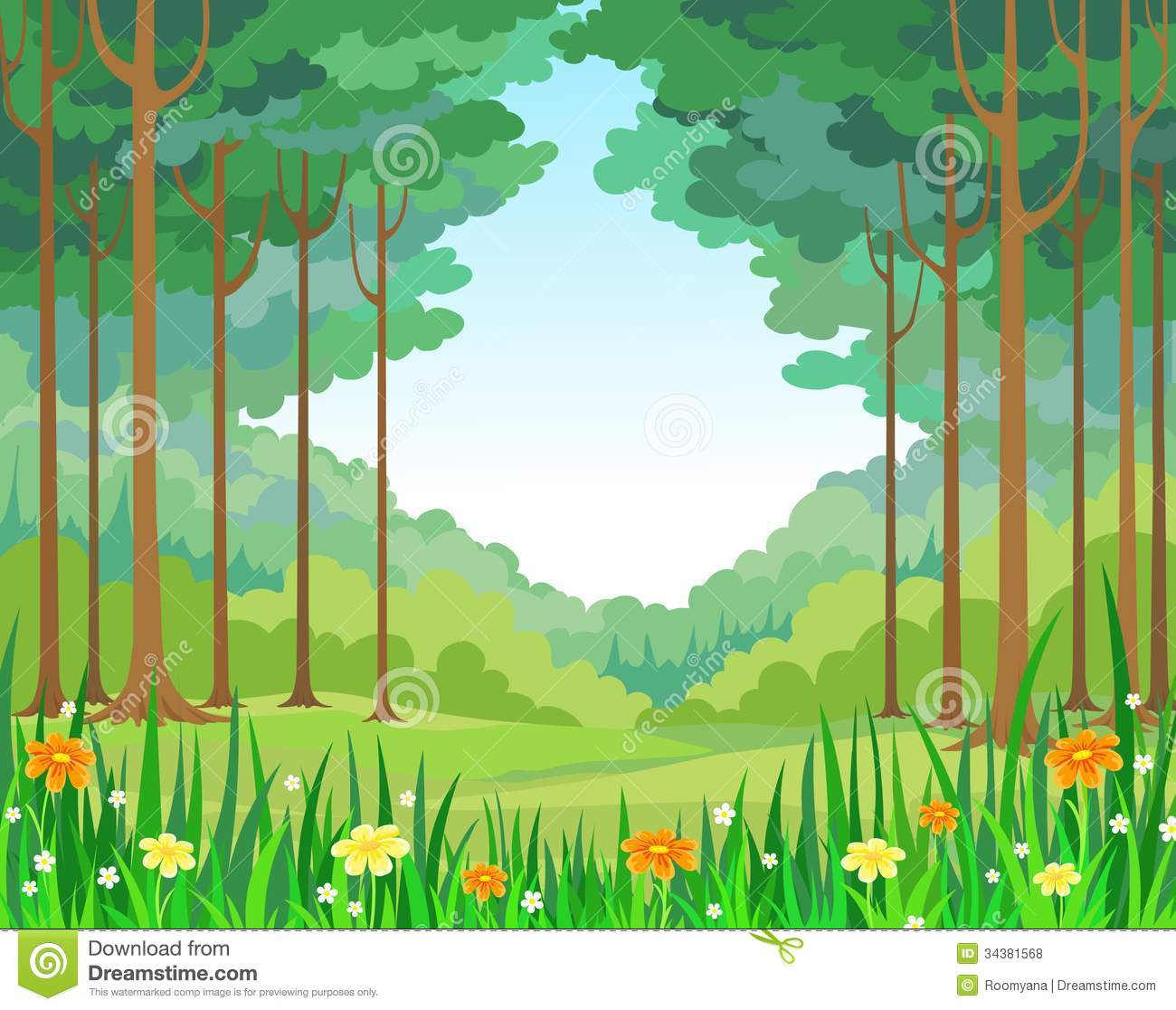Forest Background Clipart Vector Background Forest