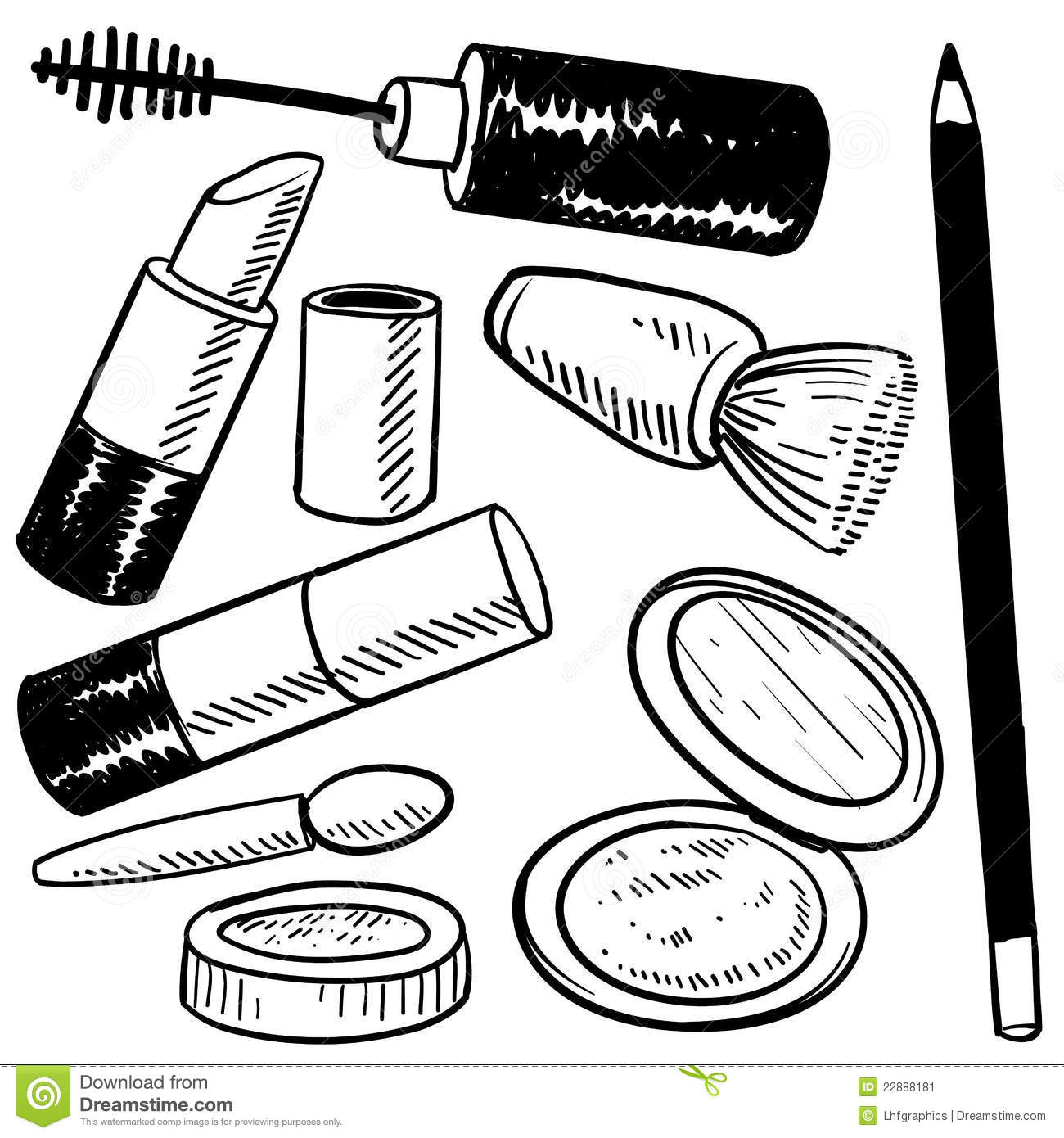 Makeup Compact Clipart Black And White Makeup Compact Clip Art Black