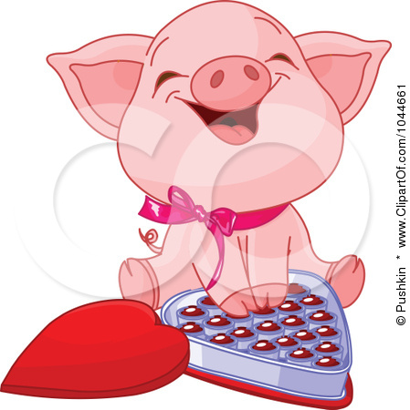 1044661 Royalty Free Rf Clip Art Illustration Of A Cute Piglet