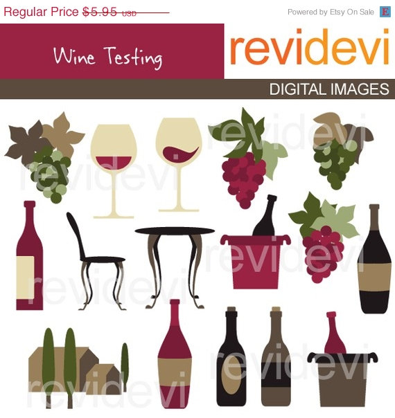 30  Off Sale Wine Tasting Clipart 07200   Commercial Use Graphic Clip