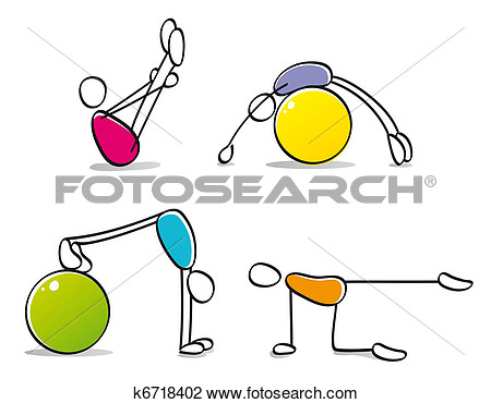 Art   Funny Persons Practicing Pilates  Fotosearch   Search Clipart