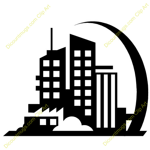 Building Clipart Black And White   Clipart Panda   Free Clipart Images