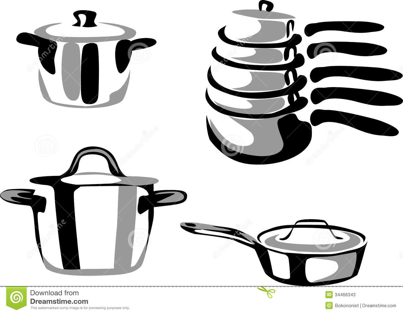 Cookware Clipart Pots Stock Photos