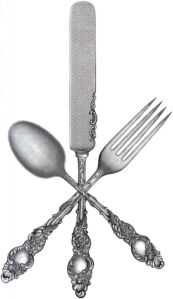 Free Fork Spoon Knife Clip Art   The Graphics Fairy