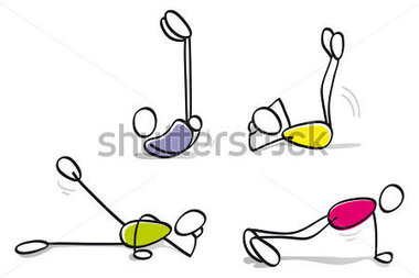 Funny Guys Doing Doing Physical Exercise Stock Vector   Clipart Me