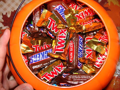 Halloween Candy Bag Too Much Candy Leftover