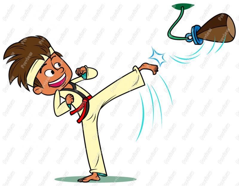 Karate Cartoon Clipart - Clipart Kid