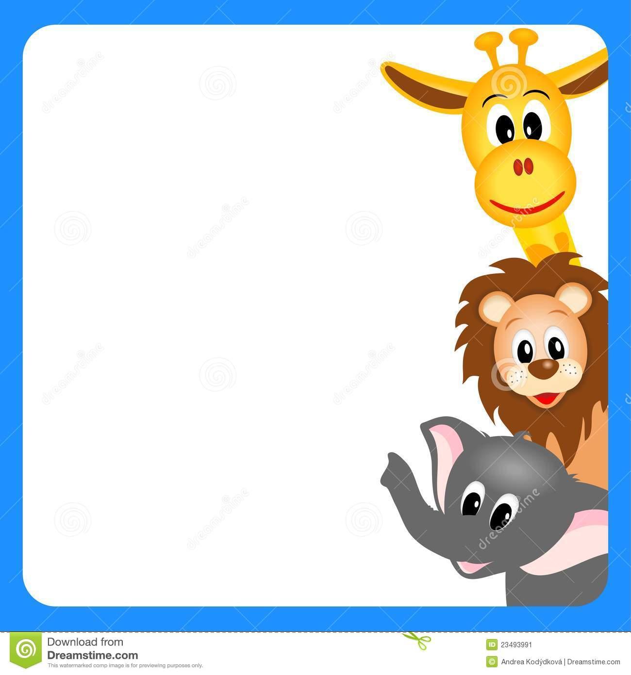 Zoo Animals Border Clipart - Clipart Kid