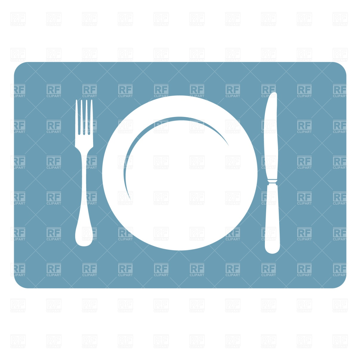 Plate Fork And Knife Download Royalty Free Vector Clipart  Eps
