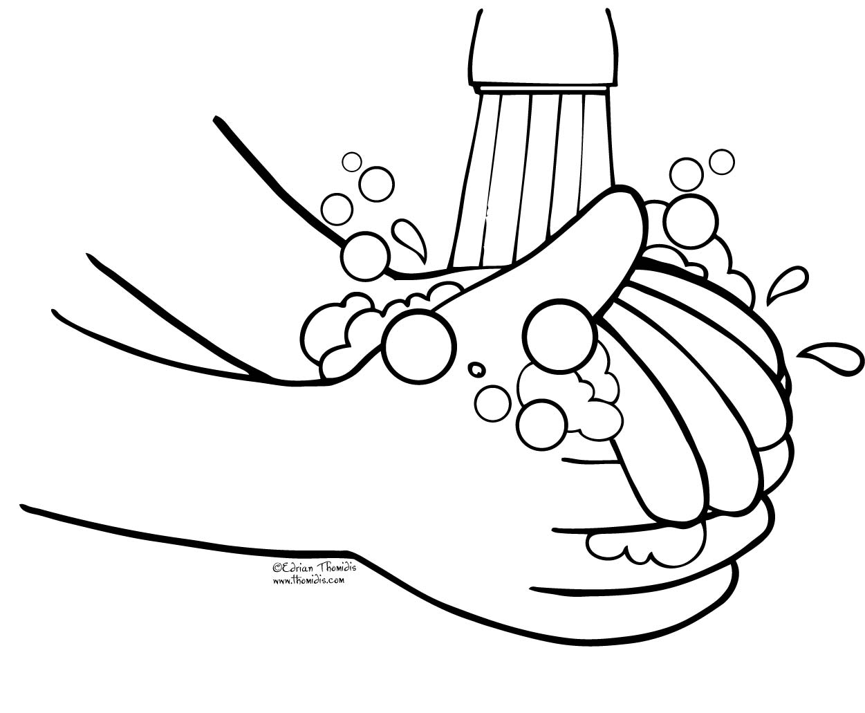 Printable Hand Washing Coloring Pages Clipart   Free Clip Art Images