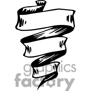 Ribbons Banners Scroll Clipart 047