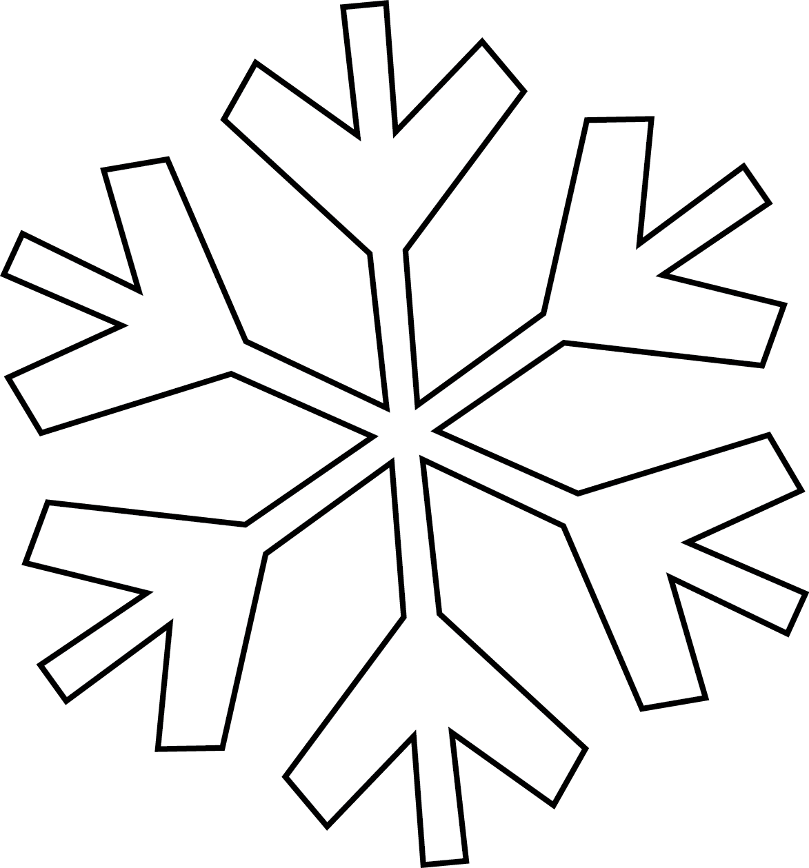Simple Snowflake Clipart - Clipart Suggest