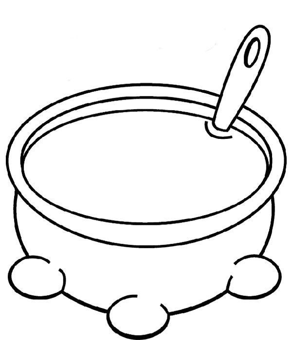 Soup Pot Coloring Page Large Soup Pot Coloring Pages