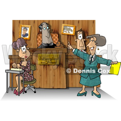Stenographer And Lawyer In A Courtroom Clipart Picture By Dennis Cox