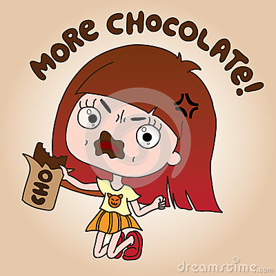 Wicked Girl Ate Too Much Chocolate Because She Very Loves Chocolate