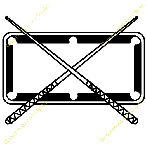 Pool Table Black And White Clipart - Clipart Kid