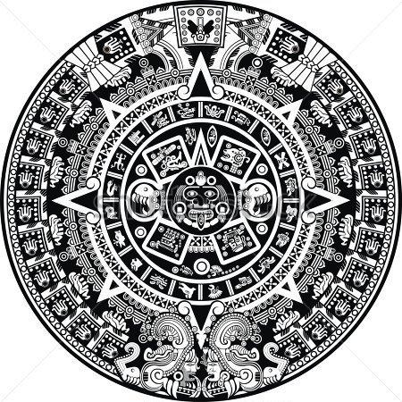 Aztec calendar clipart clipart suggest for Clipart calendario