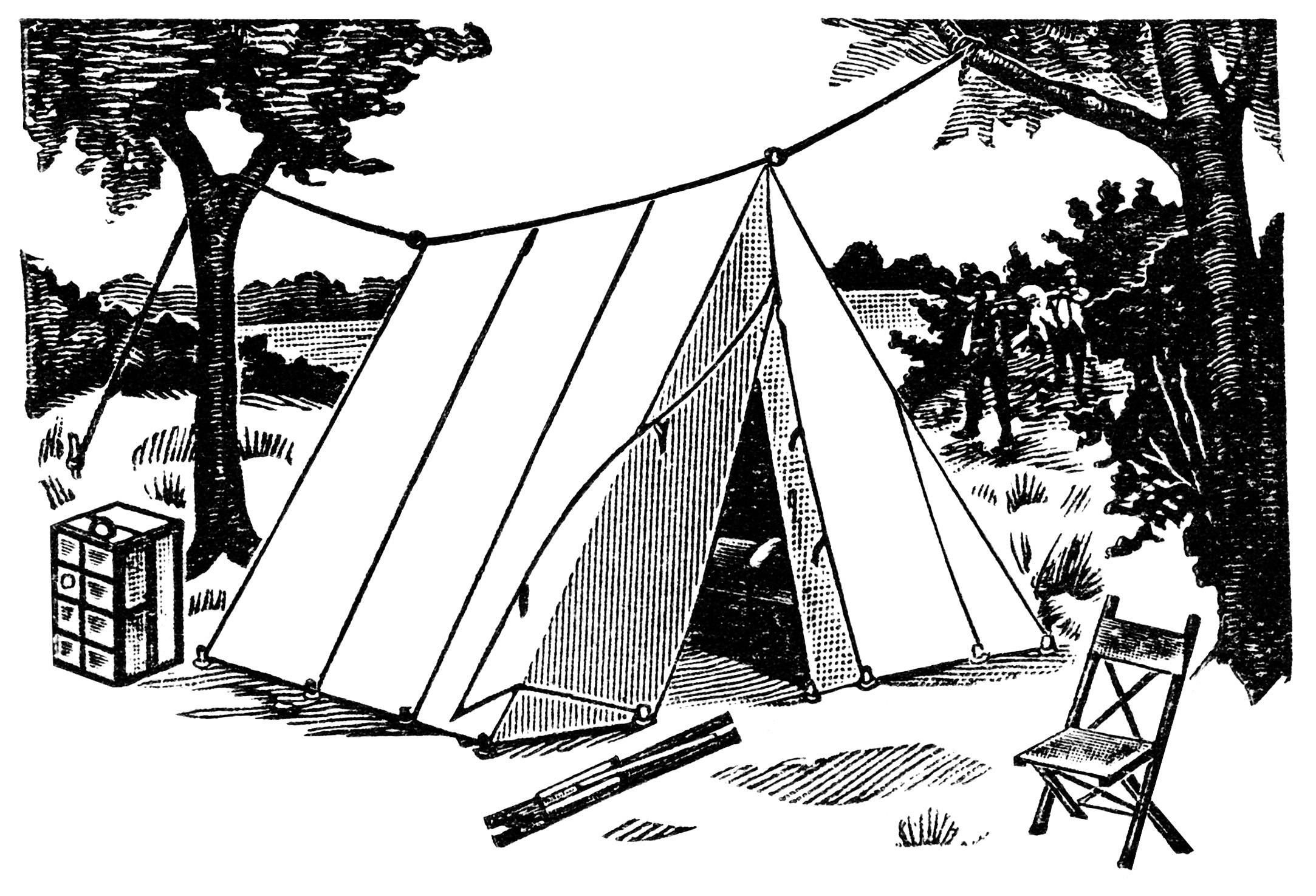 Camping Tent Clipart Black And White Click On Images To Enlarge