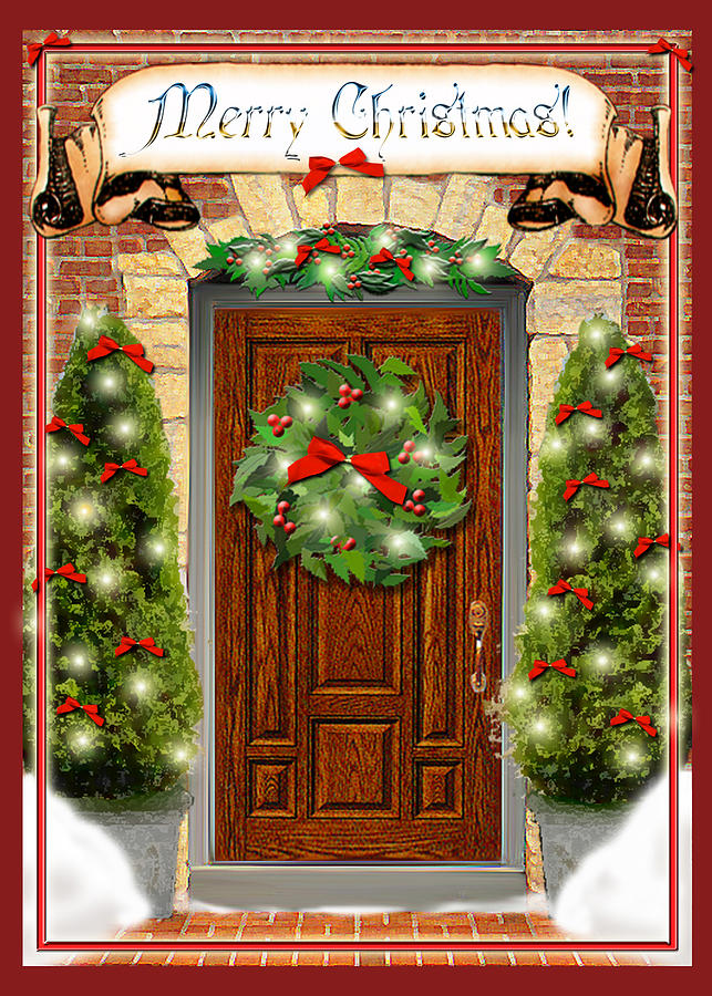Christmas Door By Melissa A Benson