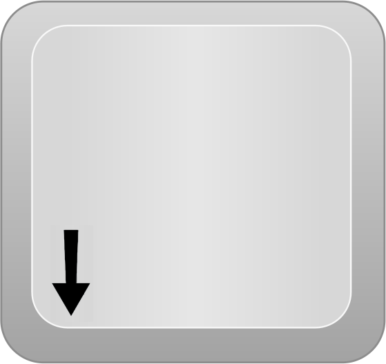 Com Computer Keyboard Keys Arrow Keys Computer Key Arrow Down Png Html